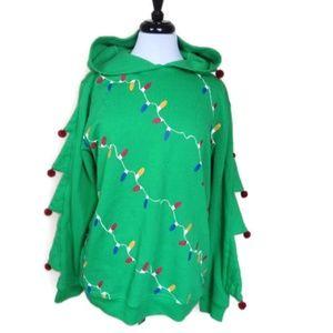 American Rag Christmas Tree Pullover Hoodie